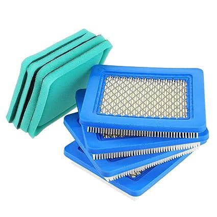 Amazon.com: 491588S Filtro de aire + Pre filtro para Briggs ...