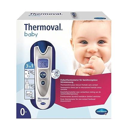 Hartmann Therm ovalado® Baby – Termómetro infrarrojo de fiebre termómetro, sin contacto, 3