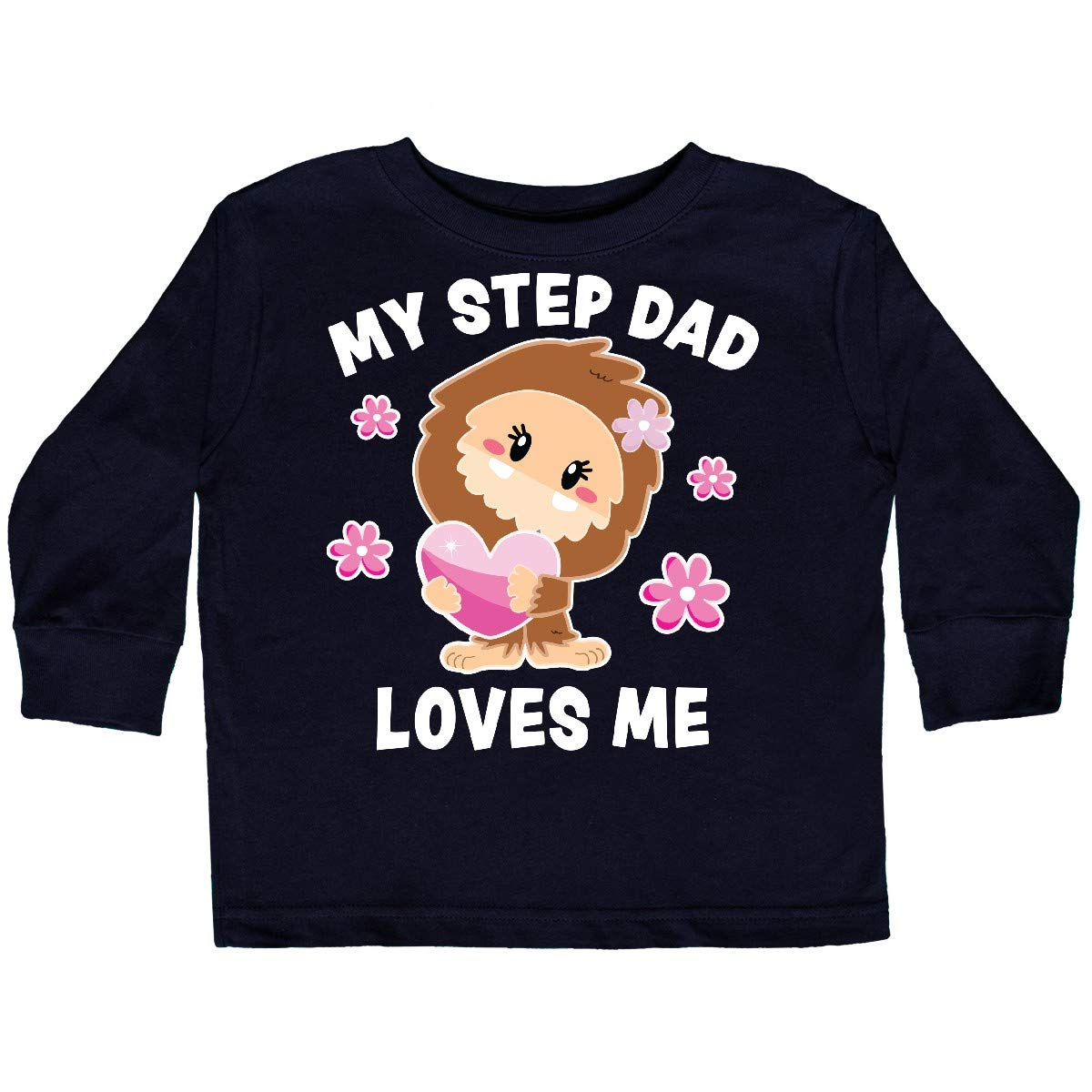 inktastic My Step Dad Loves Me with Bigfoot Toddler Long Sleeve T-Shirt