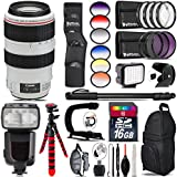 Canon EF 70-300mm IS USM Lens + Pro Flash + 6PC Graduated Filter Set + LED Kit + Stabilizing Handle + UV-CPL-FLD Filters + Macro Filter Kit + 72 Monopod + Lens Hood + 16GB - International Version