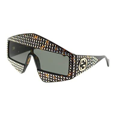 Amazon.com: Gafas de sol Gucci GG 0357 S- 001 HAVANA/GRIS ...