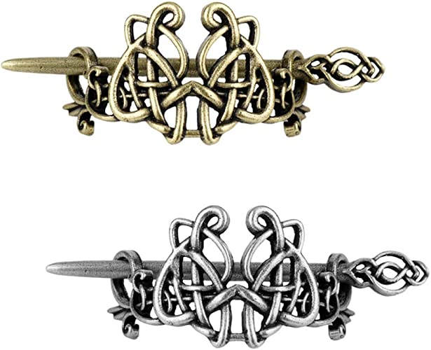 2 Stück Keltische Haarnadeln Haarspangen Große Haarclips Mittelalter