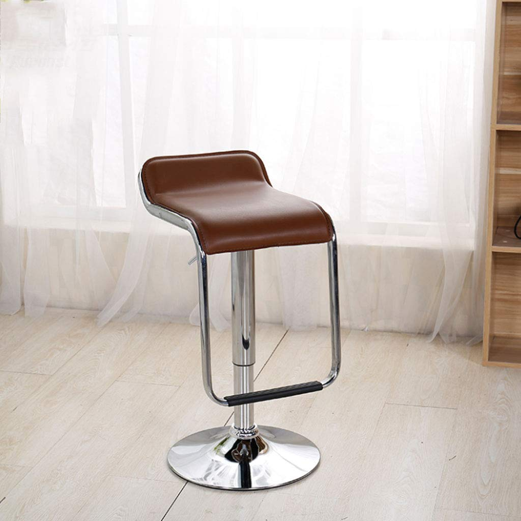 Coffee NJ STOOLS- Bar Chair Lift Front bar Chair redating bar Stool Cash Register Chair Home high Chair (color   RED)
