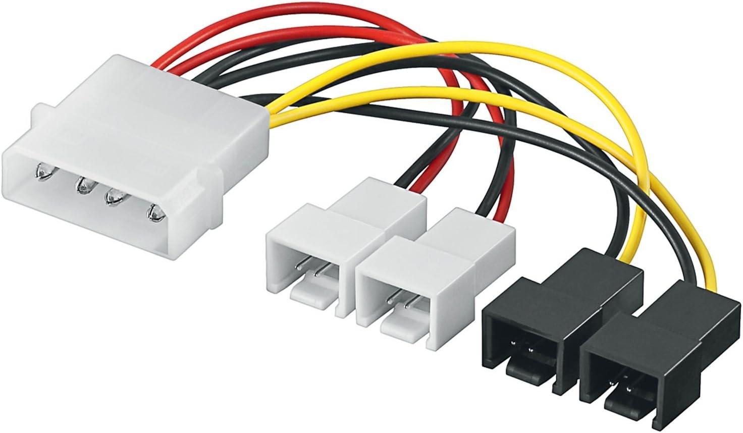 Adaptador de Corriente/Cable de Corriente de Ventilador de PC ...