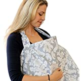Breastfeeding Nursing Cover, Trcoveric Lightweight Breathable 100% Cotton Privacy Feeding Cover, Nursing Apron for Breastfeeding - Full Coverage, Adjustable Strap, Stylish and Elegant
