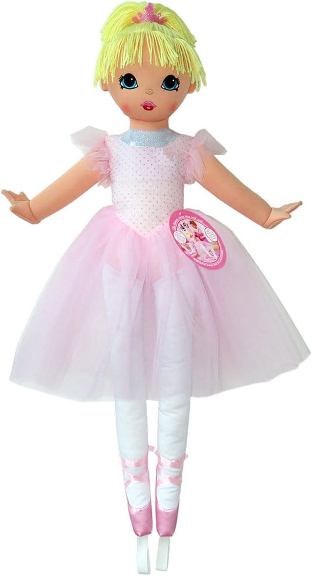 """Anico Well Made Play Doll for Children La Bella Ballerina, 36"""" Tall, Pink"""