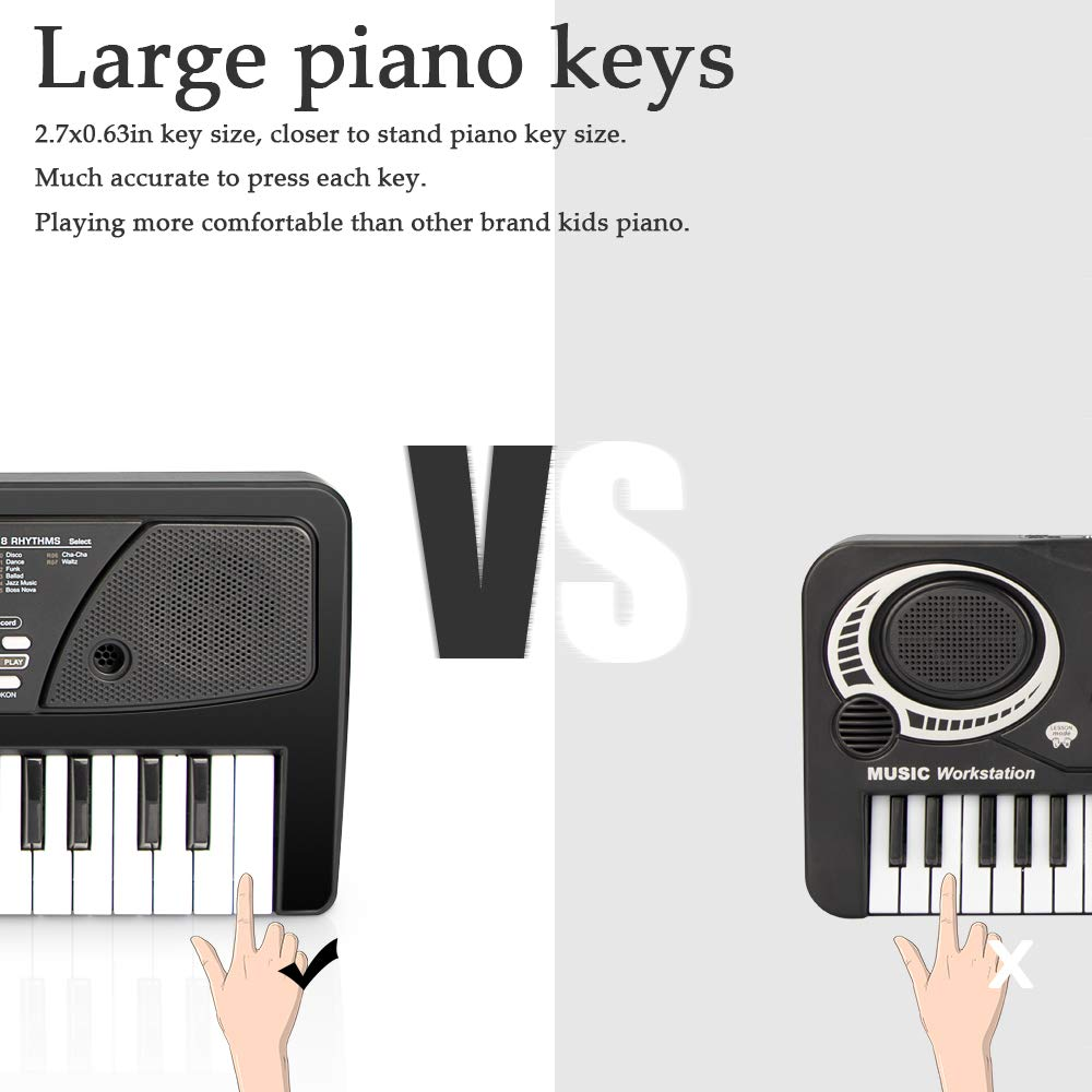 aPerfectLife 49 Keys Piano Keyboard for Kids Multifunction Portable Piano Electronic Keyboard Music Instrument for Kids Early Learning Educational Toy (Black) by aPerfectLife (Image #4)