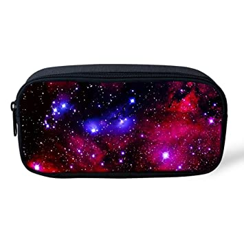 Ledback 3D Galaxy Pencil Box for Boys Multi Color Pencil Bag Children Teens Pen Holder Cosmetic Makeup Bag Women Durable Polyester Stationery Pouch ...