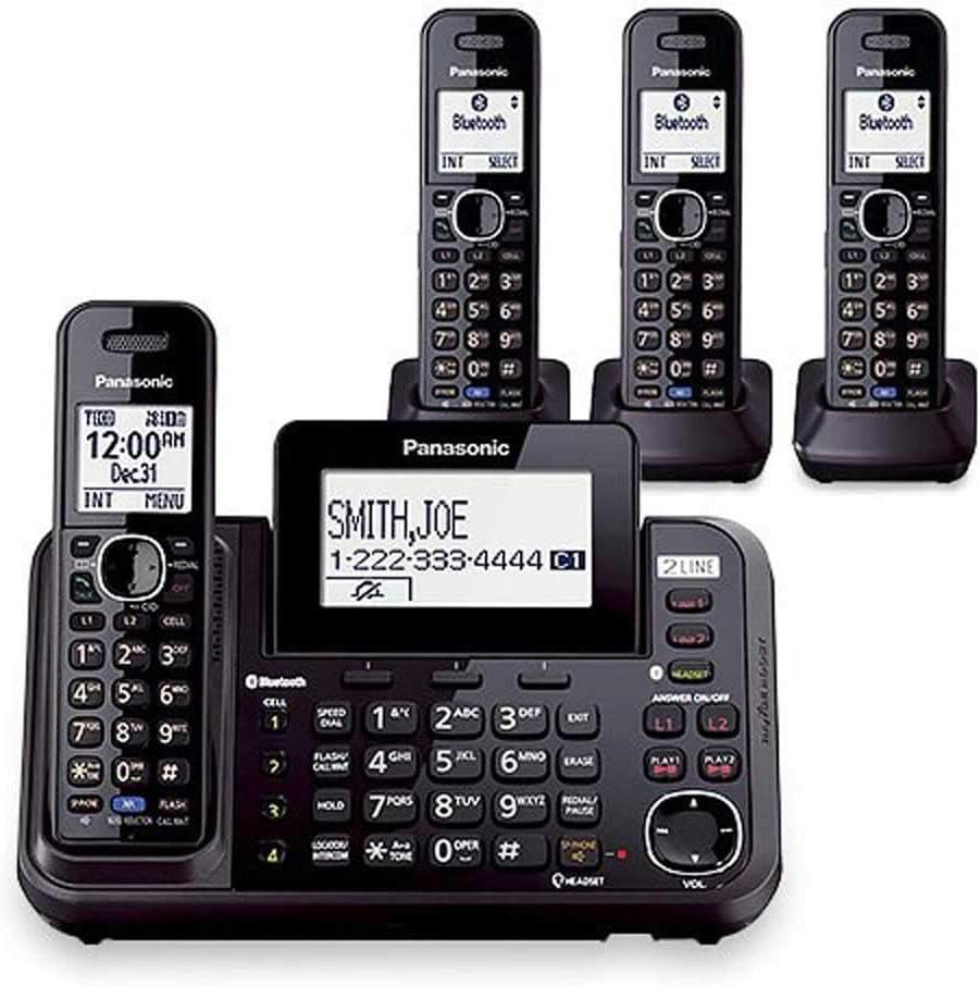 Panasonic kx-tg9542b DECT 6.0 Sistema de teléfono inalámbrico de 2 líneas w/Link-to-Cell & 2 tga950b terminales: Amazon.es: Electrónica