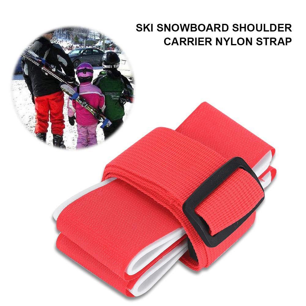 Blu Dilwe Cinghia da Sci Tracolla Regolabile Pettorina da Spalla con Imbottitura per Snowboard Tavola da Skateboard Tappetino per Yoga Accessori per Sport Invernali allaperto