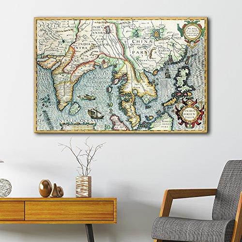 Vintage World Map of the Eastern Hemisphere Gallery