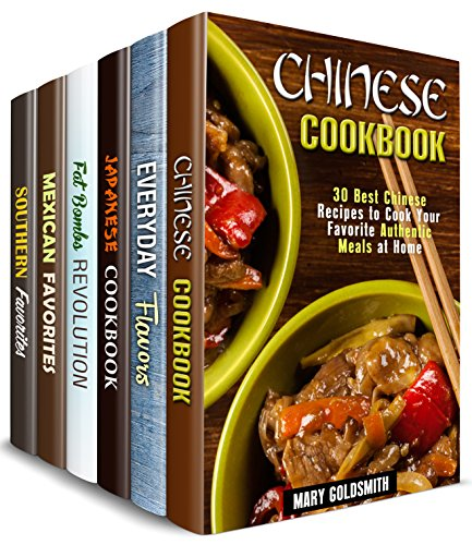 Fabulous Flavors Box Set (6 in 1): Over 180 Recipes from around the Globe with Rich Flavors and Authentic Twists (Authentic Meals Cookbook) by Mary Goldsmith, Claire Rodgers, Naomi Edwards, Sheila Fuller
