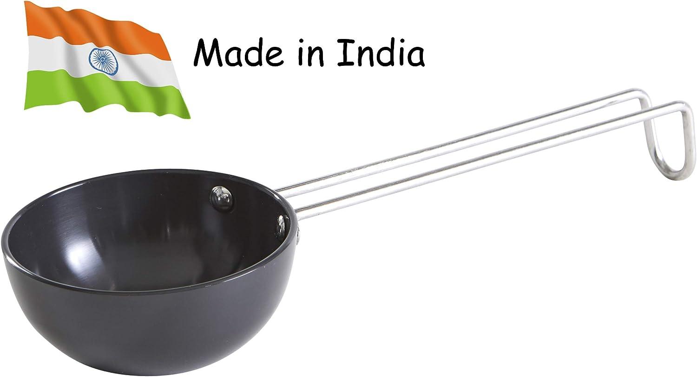 "IMUSA USA SA-10110 4.5"" Hard Anodized Spice Heating Pan Tadka, Black"