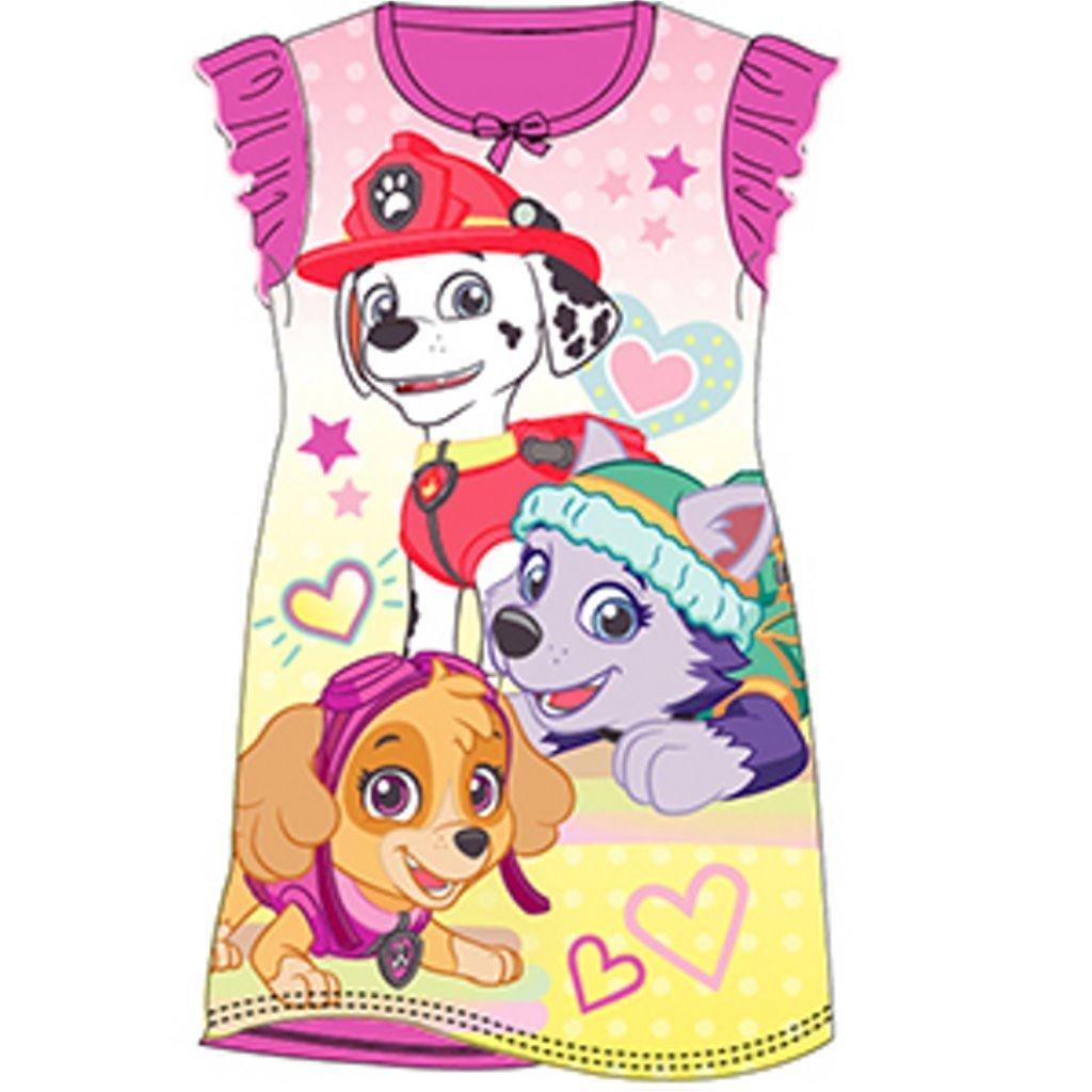 AYK Girls Nightie Nightdress Character Disney Cartoon Paw Patrol