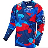 Troy Lee Designs SE Air Men's Off-Road Motorcycle Jersey - Cosmic Camo Blue / Large