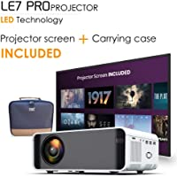 [Wireless Projector] EDGE LE7 PRO 4500 Lumens LED Portable Video Projector with 170' Display, DLNA ,WIFI,Support 1080P, HDMI, AV, VGA, USB,Built in Speakers,35000 Hours, TV, Laptop, Box, Phone