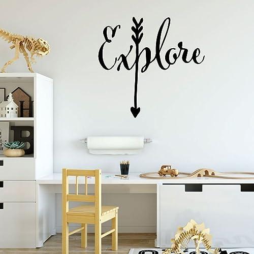 Amazon.com: Children\'s Room Wall Decal - Explore with Arrow Design ...
