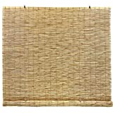 Radiance Cord Free, Roll-up Reed Shade, Natural, 72 x 72
