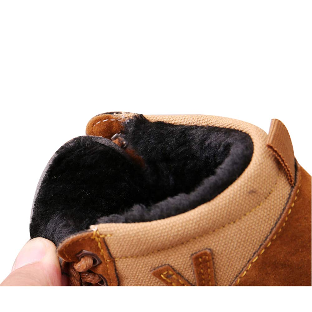 Infant Unisex Baby Winter Shoes Martin Boots Snowboots Toddlers Soft Warm Leather Anti-Slip Fleece Boot