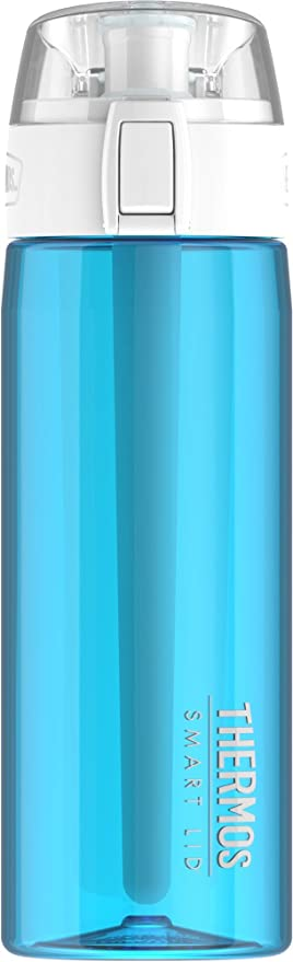 NEW Thermos 24 Ounce Hydration Bottle with Connected Smart Lid Smoke or Aqua