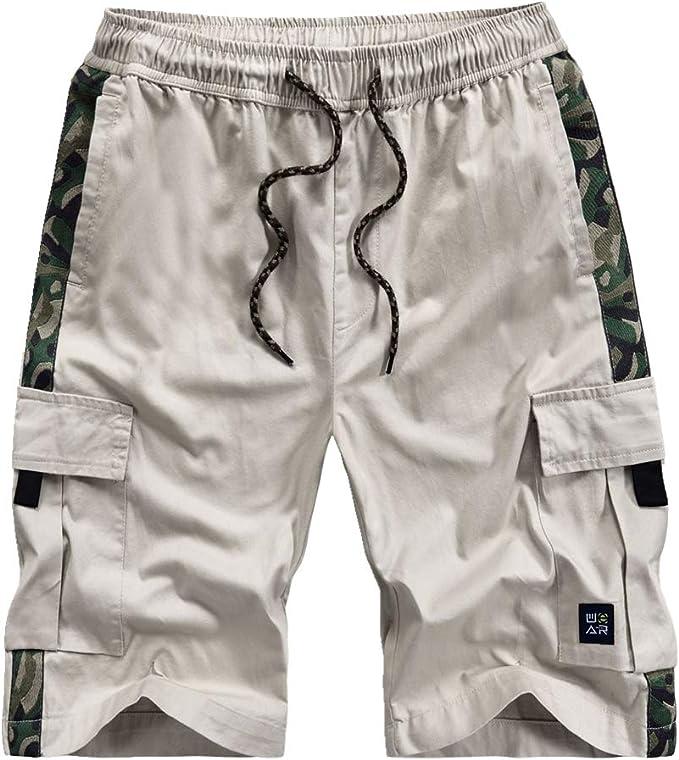 Pantalones cortos de verano para hombre, holgados, de algodón puro ...
