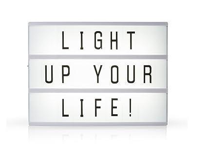 Light de caja/bombilla Buzón A5 con 85 letras y símbolos, decoración de luz