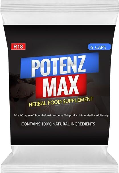 potenzmax - performances sexuales - Caja de 6 Cápsulas - Satisfacción Garantía
