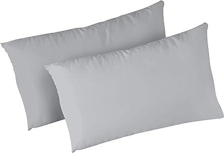 Federe Bianche Per Cuscini.Panini Tessuti Coppia Federe In 100 Cotone Per Cuscino Guanciale