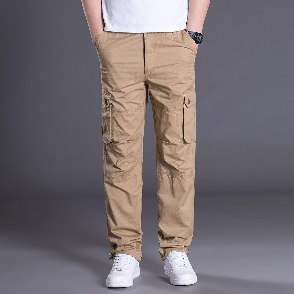 pantalón Deportivo de Verano Aire Libre Multibolsillos Pantalones ...