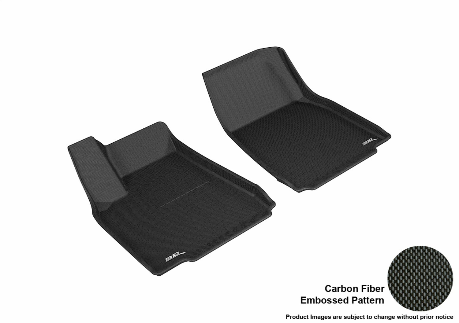 3D MAXpider L1TL00111509 R1 Kagu Floor Mat for Tesla Model X 2016-2017, Black B074VK2D3V