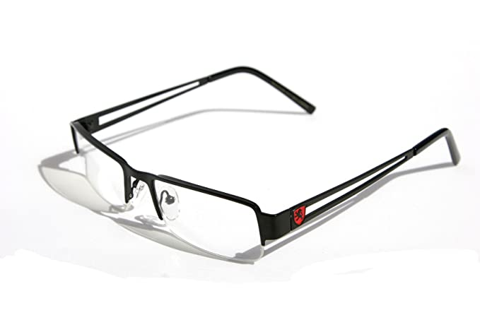 2b41e86519 Amazon.com  Premium Khan Metal Rectangular Reading Glasses (Black