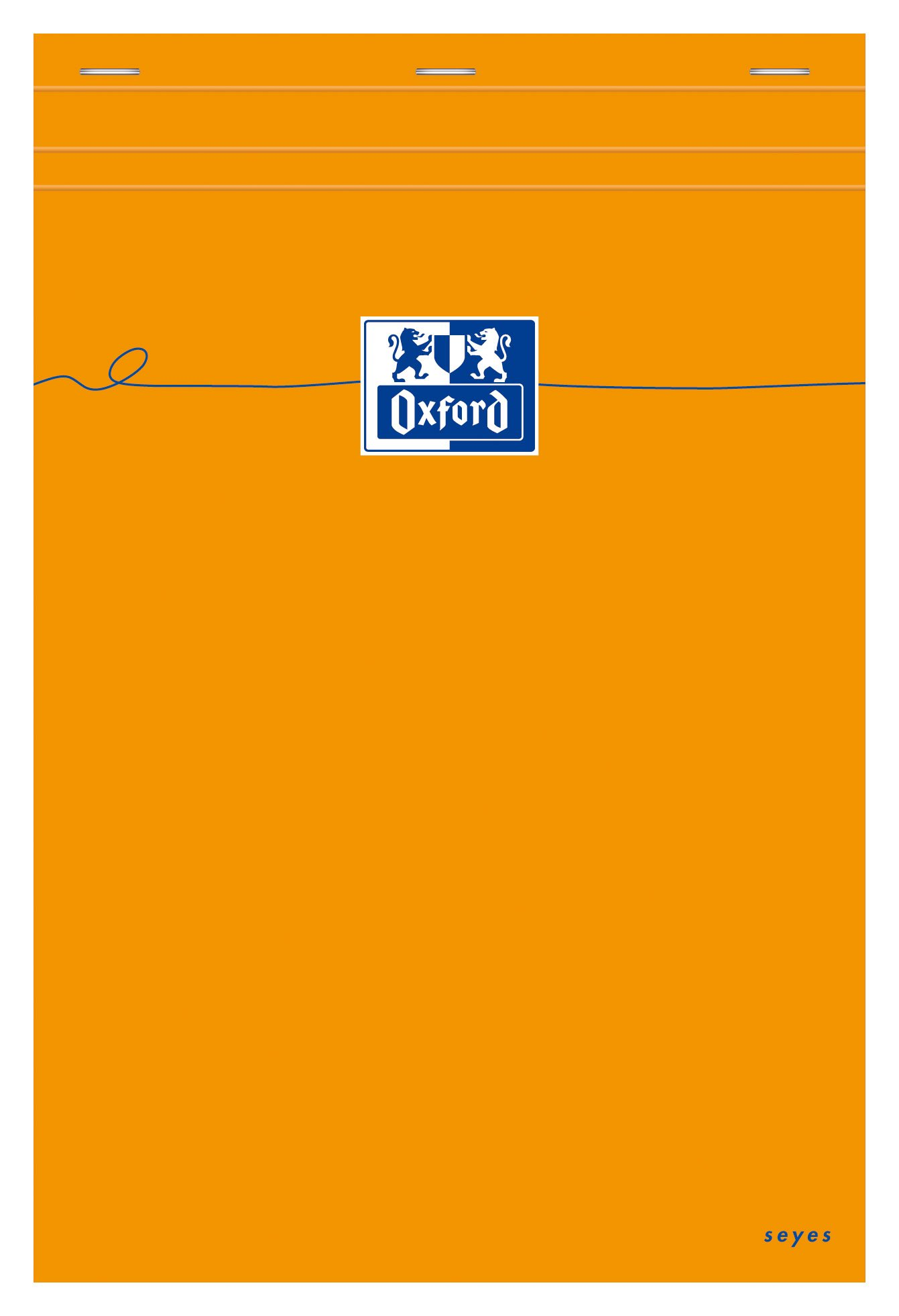 Pack of 5 Oxford notepads Large Squares Seyès-Ruled 160 Pages A4 Orange