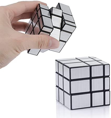 Techno HightSliver Mirror 3x3x3 Speed Magic Cube Puzzles, ABS Ultra-Smooth Master Speed Twist Cube,Brain Teaser Toys & Christmas Birthday Gifts