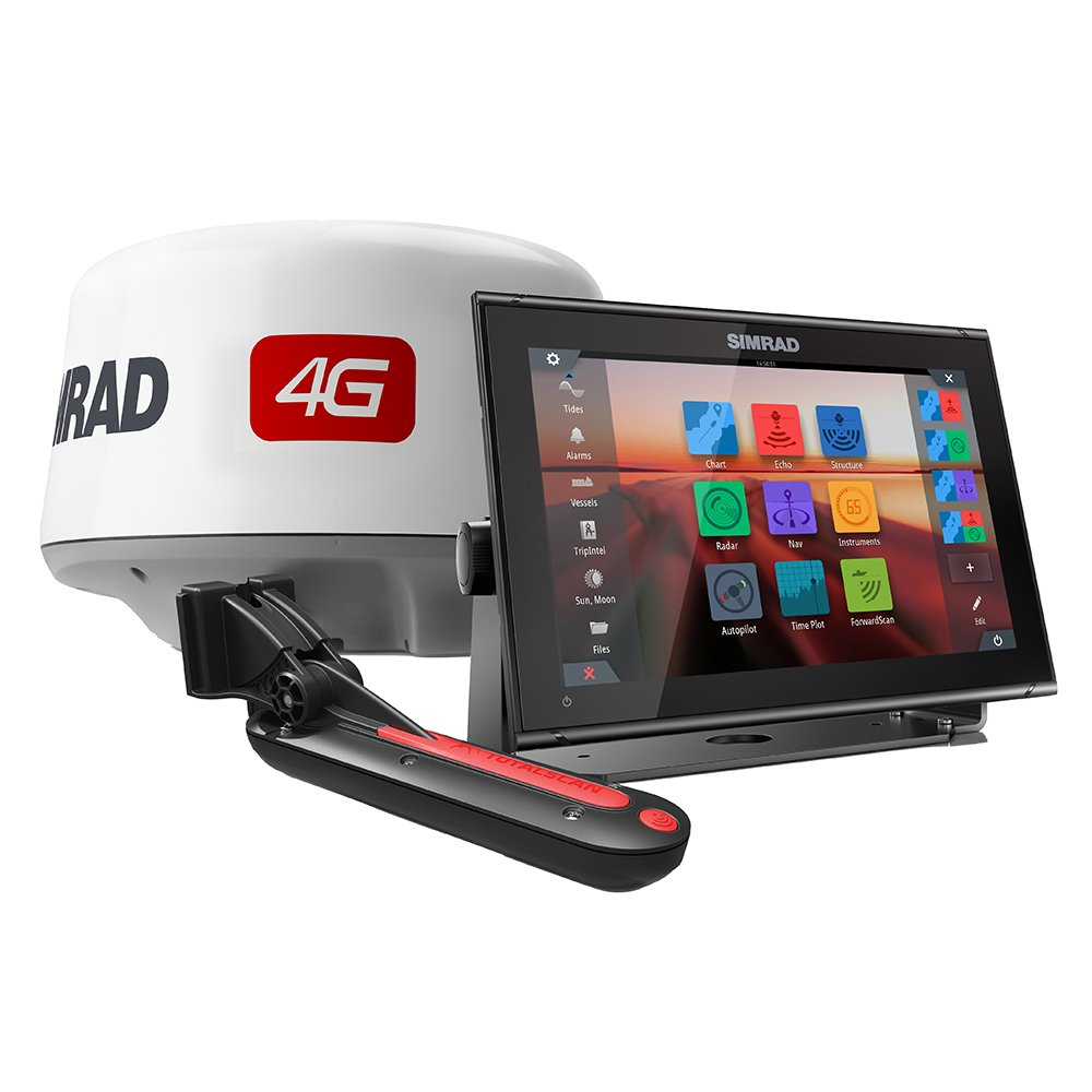 Simrad GO12 XSE Combo Package w/4G Radar & TotalScan Transducer