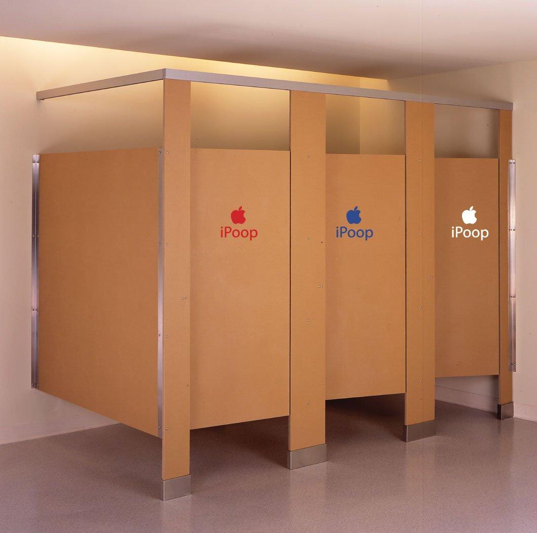 iPoop Toilet Seat Bathroom Decals Stickers PC Car Moto Decals Apple Funny Joke wall sticker studio