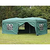 Palm Springs 10 x 20 Pop-up Green Canopy w/ 6 Side Walls EZ to Set up