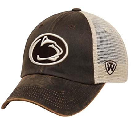 finest selection aa8fb 4eb00 Amazon.com   Penn State Nittany Lions Top of the World Brown Scat Mesh Adjustable  Hat Cap   Sports   Outdoors