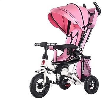 TH Triciclo Baby Carro De Bebe Triciclo para Niños 4 En 1 con Barra De Manija De Empuje Removible Mejora La Rueda De EVA 1-5 Años,Pink: Amazon.es: Jardín