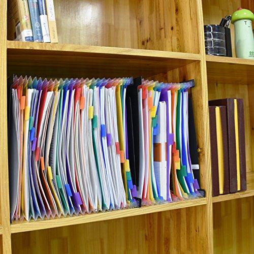 Carpeta de Archivos Desplegables AOJIA Clasificadores Carpetas de Acordeón 13 Bolsillos Separadores Archivador A4 para Oficina Escuela Casa Conservación: ...