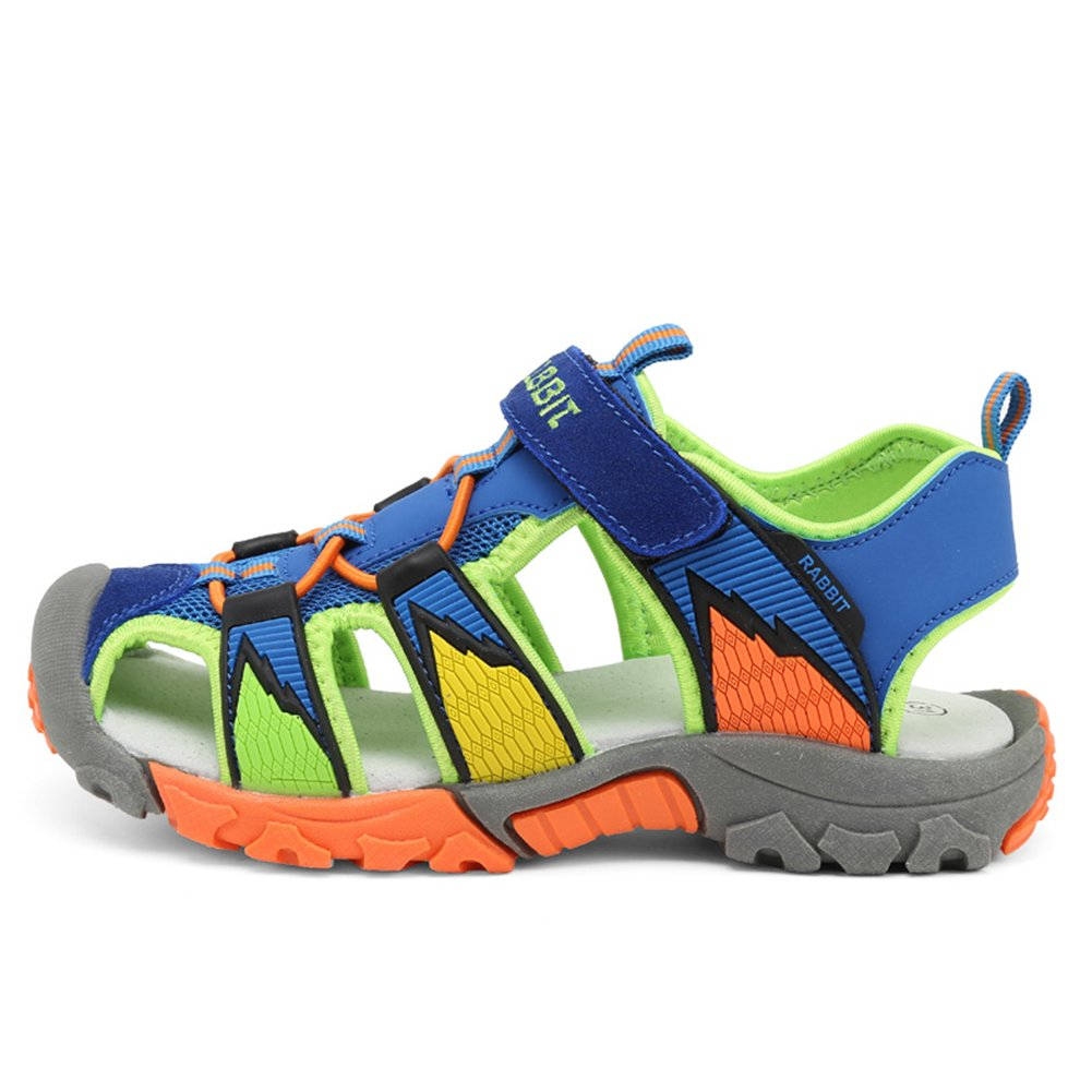 KKIDSS Boys Girls Sport Water Sandals Summer Closed-Toe Athletic Kids Shoes Blue 3.5 M US Big Kid