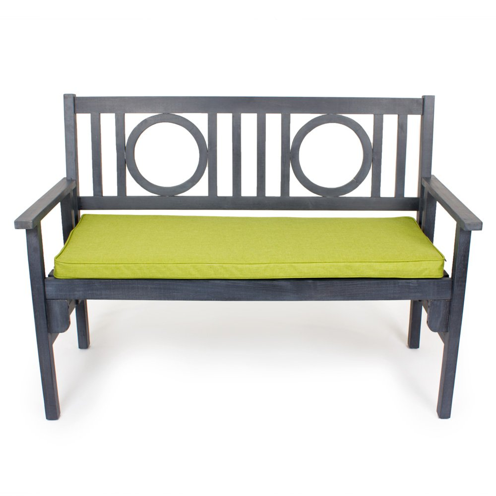 icon Luxury Garden Bench Pads - Urban Palm House Outdoor Bench Cushions (Lime)