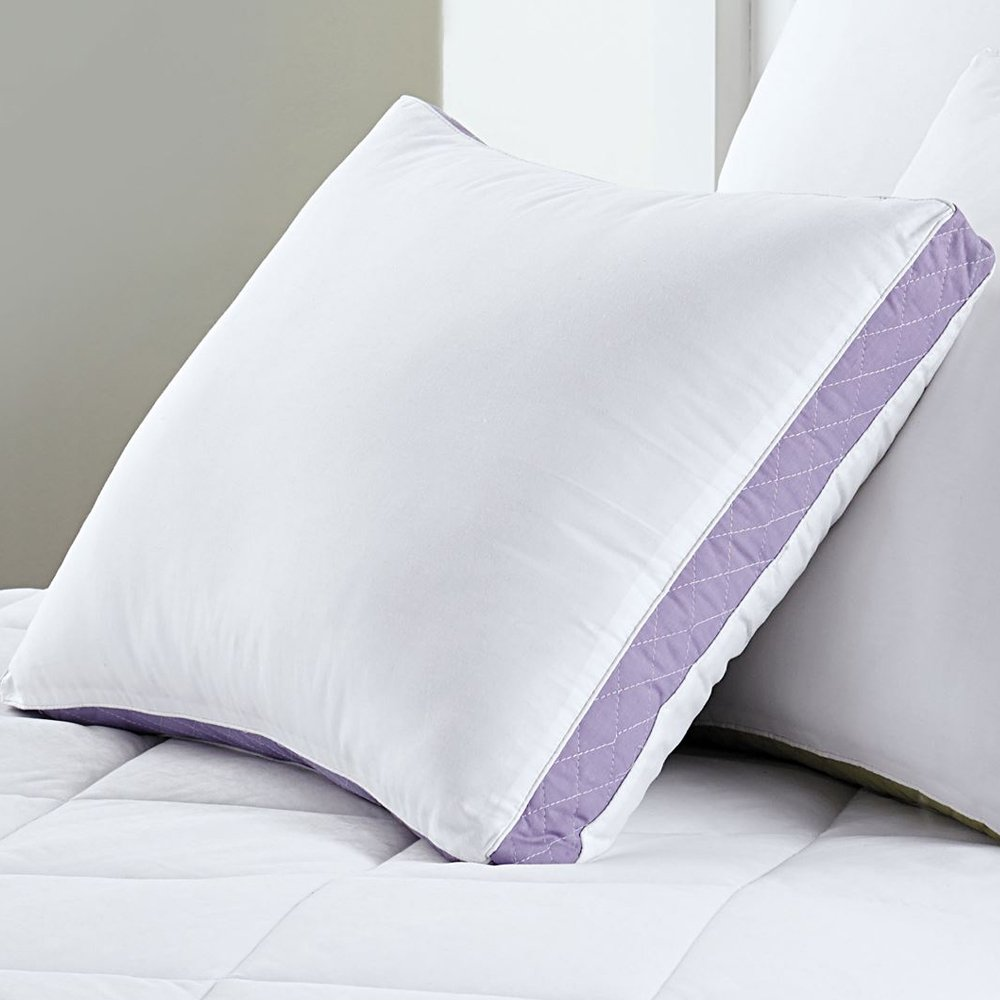 Sweet Home Collection  Premium Hypo-Allergenic 233 Thread Count Gusseted Quilted Sidewall Pillow (2 Pack), Queen GUSSET-QUEEN-FIRM