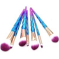 STELLAIRE CHERN 7 Pieces Professional Makeup Unicorn Brush Foundation Blending Blush Powder Eye Shadow Make Up Brushes Ki Cosmetic Brushes Kit - Purple