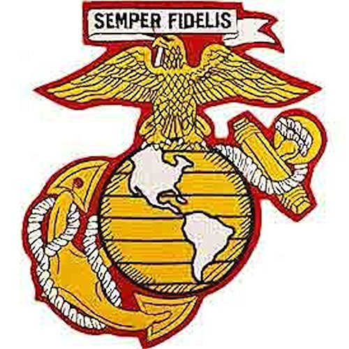 (USMC Eagle Globe & Anchor 10 inch Back Patch - Semper Fidelis)