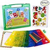 kids art supplies stencils - Drawing Stencils Set for Kids, MOMODA Travel Activity and Creativity Kit with over 260 Shapes, Ideal Gift for Boys and Girls, Educational Toy Toddler to Teen