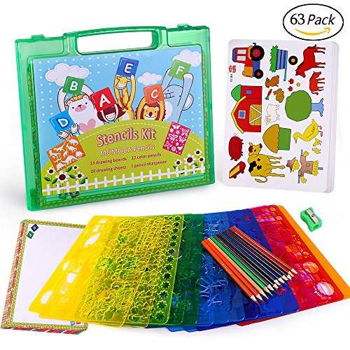 Boy Shape (Drawing Stencils Set for Kids, MOMODA Travel Activity and Creativity Kit with over 260 Shapes, Ideal Gift for Boys and Girls, Educational Toy Toddler to Teen)
