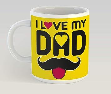 a523c0562c9 Insta Design Gift for Dad Colorful Printed Ceramic Coffee Mug - Dark Yellow
