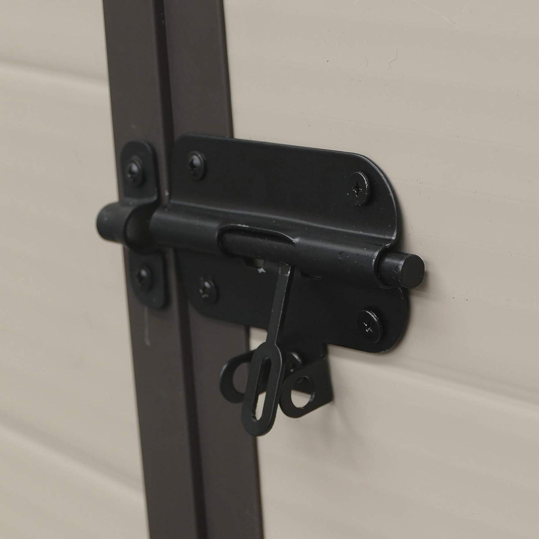 Gardiun KSP38160 190 x 132 x 203 cm Casetta in Resina Marsala Ecr/ù//Marrone 2,47 m2 Ext
