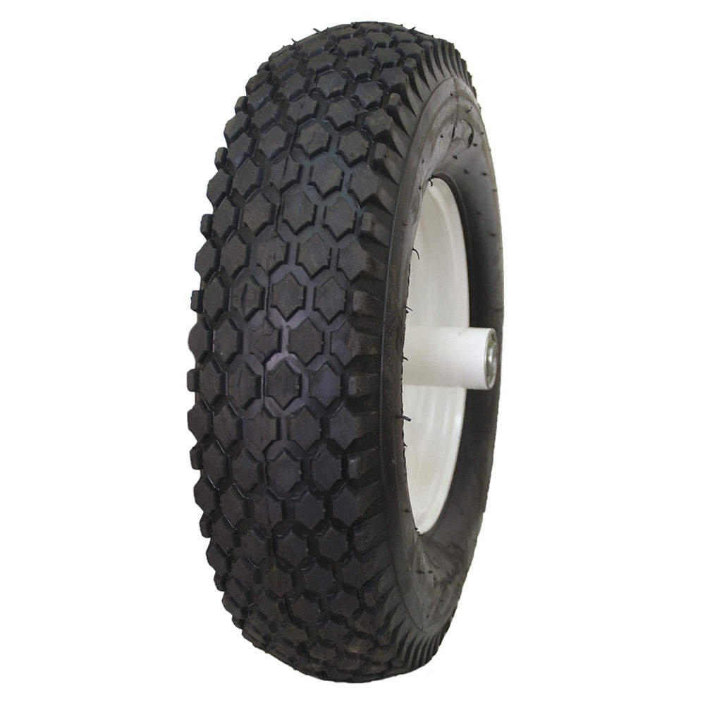 2 NEW - 4.80/4.00-8 4PR HI-RUN STUD WHEEL BARROW TIRE AND WHEELS