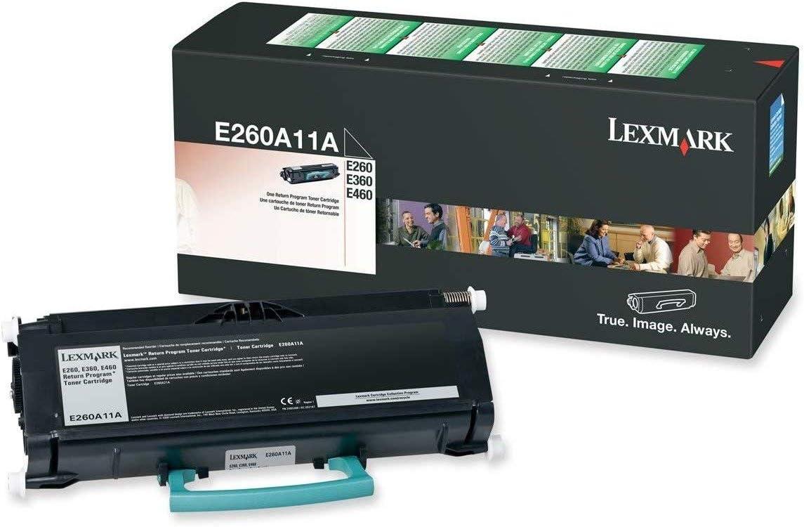 Lexmark E260A11A E260/E360/E460 Return Program Toner Cartridge